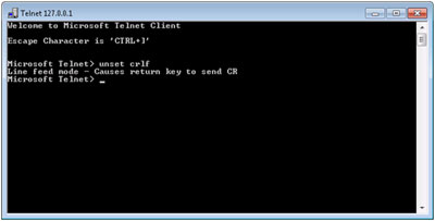 Telnet Dialog box
